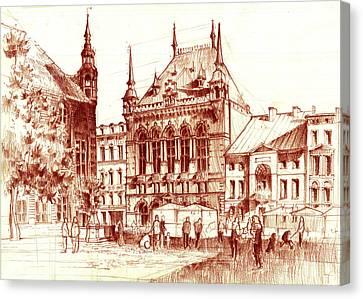 Market Square Canvas Print by Krystian Wozniak