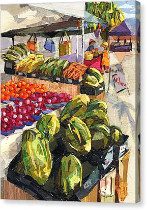 Market Today Canvas Print