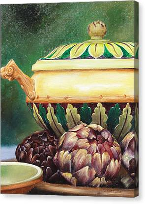 Market Tureen Canvas Print by Denise H Cooperman