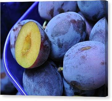 Marketplace Plums Canvas Print