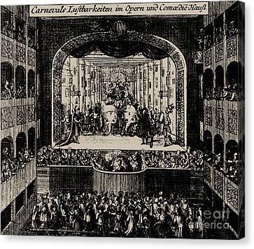 Markgrafentheater In Erlangen, 1721  Canvas Print by Johann Baptista Homann