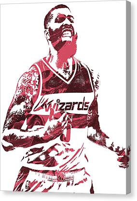 Markieff Morris Washington Wizards Pixel Art Canvas Print by Joe Hamilton