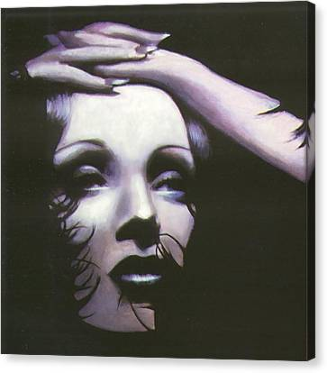 Marlene Dietrich Canvas Print by Elizabeth Silk