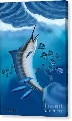 Marlin Fish Canvas Print by Corey Ford