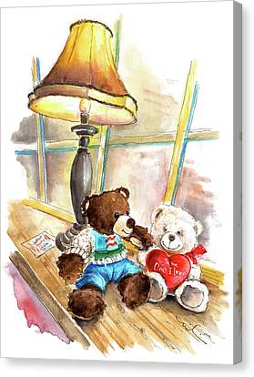 Marlon Blanco And Truffle Mcfurry In Whitby Canvas Print by Miki De Goodaboom