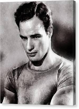 Marlon Brando, Actor Canvas Print by John Springfield