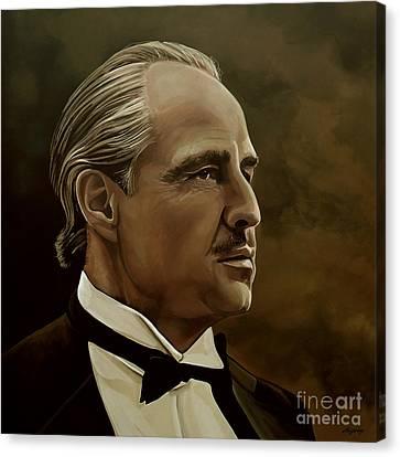 Marlon Brando Canvas Print by Meijering Manupix