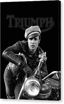 Marlon Brando Triumph Canvas Print by Mark Rogan