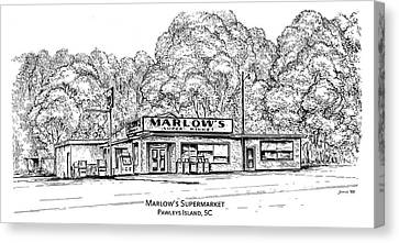 Carolina Canvas Print - Marlows Market by Greg Joens