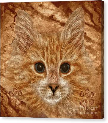 Animal Artist Canvas Print - Marmalade by Shafawndi Heartski