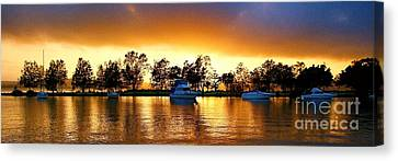 Marmong Point Sunrise. Original Exclusive Photo Art. Canvas Print by Geoff Childs