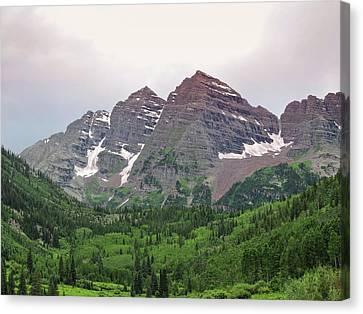 Maroon Bells Canvas Print by Connor Beekman