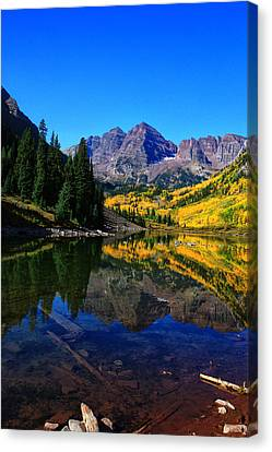 Maroon Bells In Aspen 2 Canvas Print by Bruce Hamel