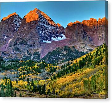 Maroon Bells Sunrise Canvas Print