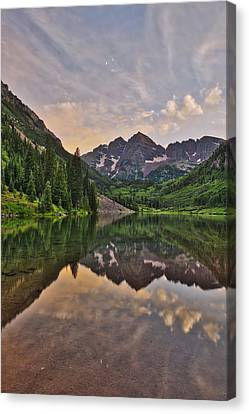 Maroon Bells Sunset - Aspen - Colorado Canvas Print by Photography  By Sai
