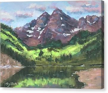 Maroon Reflections Canvas Print