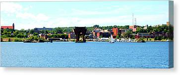 Marquette Michigan Harbor One Canvas Print by Phil Perkins