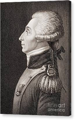 Marquis De Lafayette Canvas Print by American School