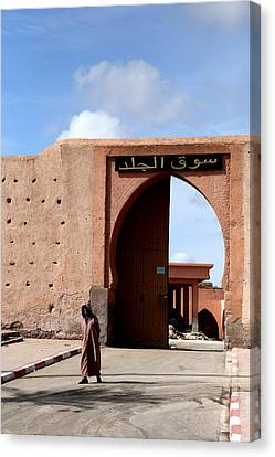 Canvas Print featuring the photograph Marrakech 1 by Andrew Fare