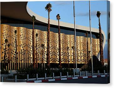 Canvas Print featuring the photograph Marrakech Airport 1 by Andrew Fare