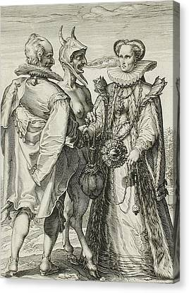 Marriage For Money Canvas Print by Jan Saenredam