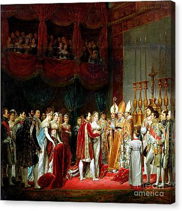 Marie-louise Canvas Print - Marriage Of Napoleon I And Marie Louise by MotionAge Designs