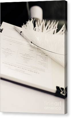 Marriage Register Canvas Print by Jorgo Photography - Wall Art Gallery