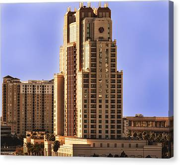 Canvas Print featuring the photograph Marriott Of Tampa Bay by Linda Constant