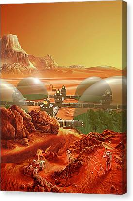 Mars Colony Canvas Print by Don Dixon