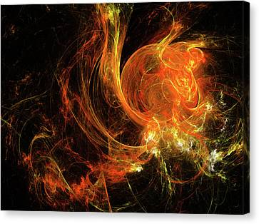 Mars In Fire Canvas Print by Julia Bagryanskaya