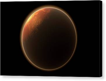 Mars In Space Canvas Print