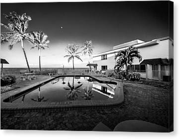 Mars Poolside Canvas Print by Gene Camarco