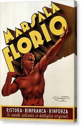 Sicily Canvas Print - Marsala Florio - Sicily, Italy - Vintage Poster by Studio Grafiikka