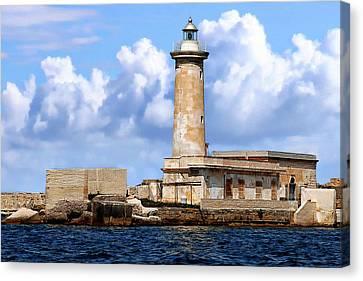 Marsala Lighthouse Canvas Print by Anthony Dezenzio