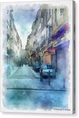 Marseille Back Street Canvas Print by Paulette B Wright