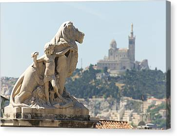 Marseille-saint-charles Statue, France Canvas Print