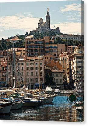 Canvas Print featuring the photograph Marseilles by Ron Dubin
