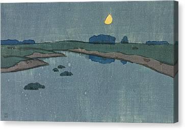 Marsh Creek Canvas Print by Arthur Wesley Dow