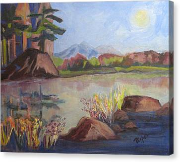 Canvas Print featuring the painting Marsh Land by Betty Pieper