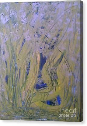 Marsh Moment Canvas Print by Leslie Revels Andrews