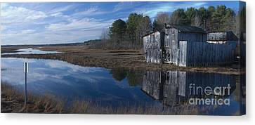 Canvas Print featuring the photograph Marsh Reflection by David Bishop