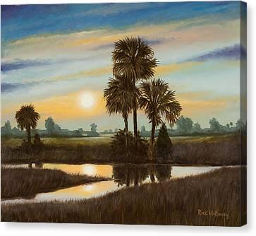 Marsh Sunset Canvas Print by Rick McKinney