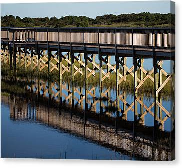 Marsh Walk Reflection Canvas Print