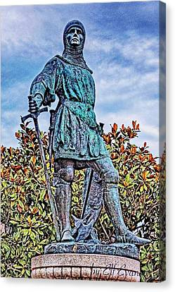 Canvas Print featuring the photograph Marshal Of Brittany Jehan De Beaumanoir by Elf Evans
