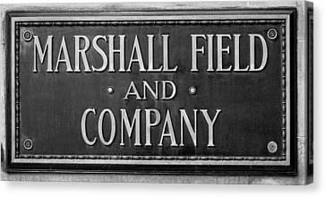 Marshall Field Plaque Canvas Print by Steve Gadomski