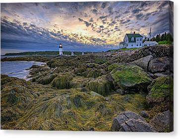New England Lighthouse Canvas Print - Marshall Point At Dusk by Rick Berk