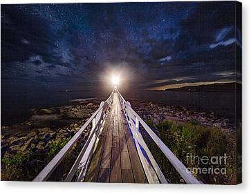 Marshall Point At Night Canvas Print