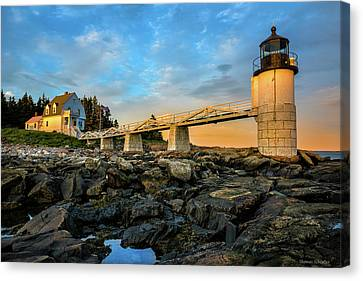 Mid-coast Maine Canvas Print - Marshall Point Light Aglow by Expressive Landscapes Fine Art Photography by Thom