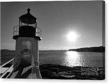 Marshall Point Light House At Sunset Canvas Print by Olivier Le Queinec