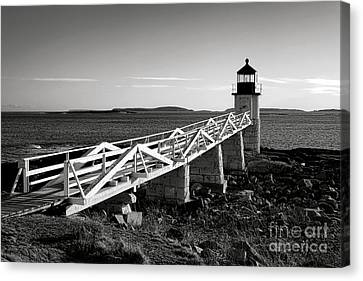 Maine Winter Canvas Print - Marshall Point Lighthouse In Late Winter Afternoon by Olivier Le Queinec